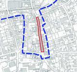 Kartenausschnitt für den Bereich Bielefelder Straße von der Echterbeck-Kreuzung bis Bolldammbachquerung.
